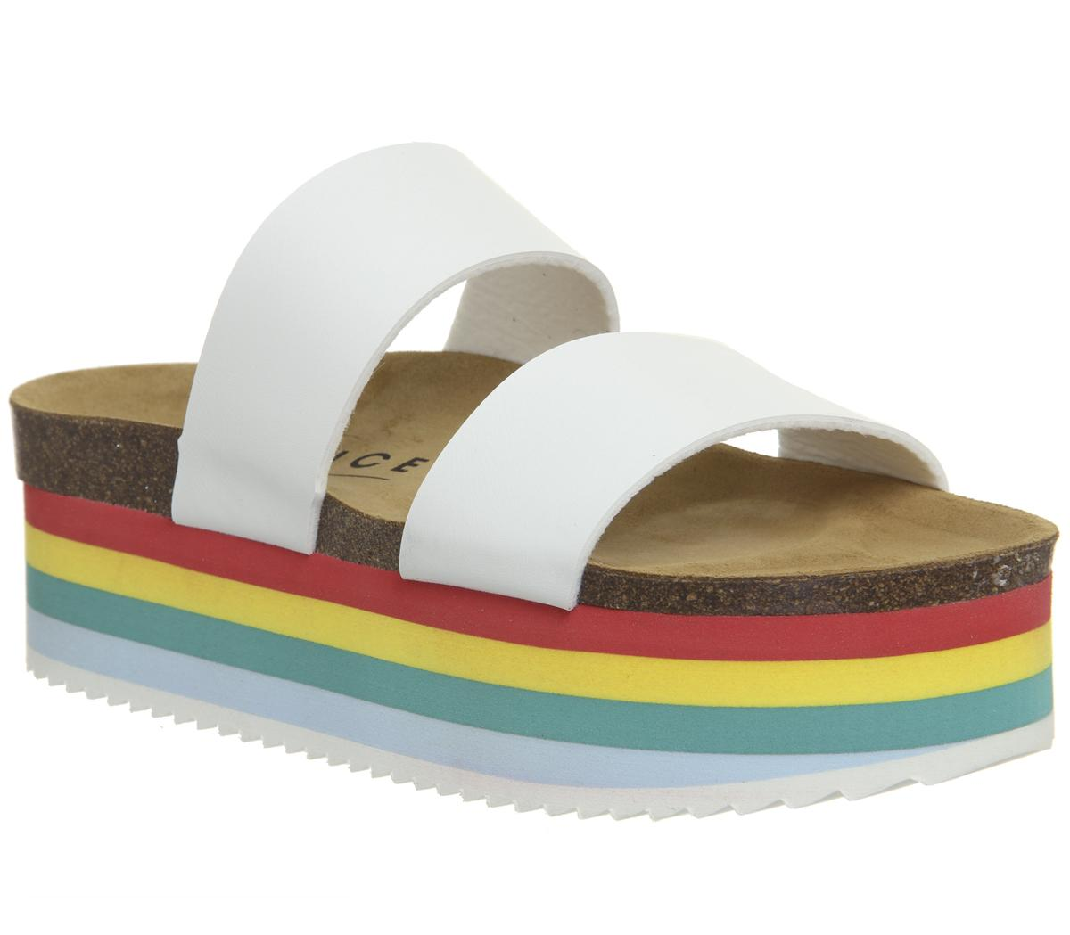 Mambo Striped Sole Two Strap Sandals