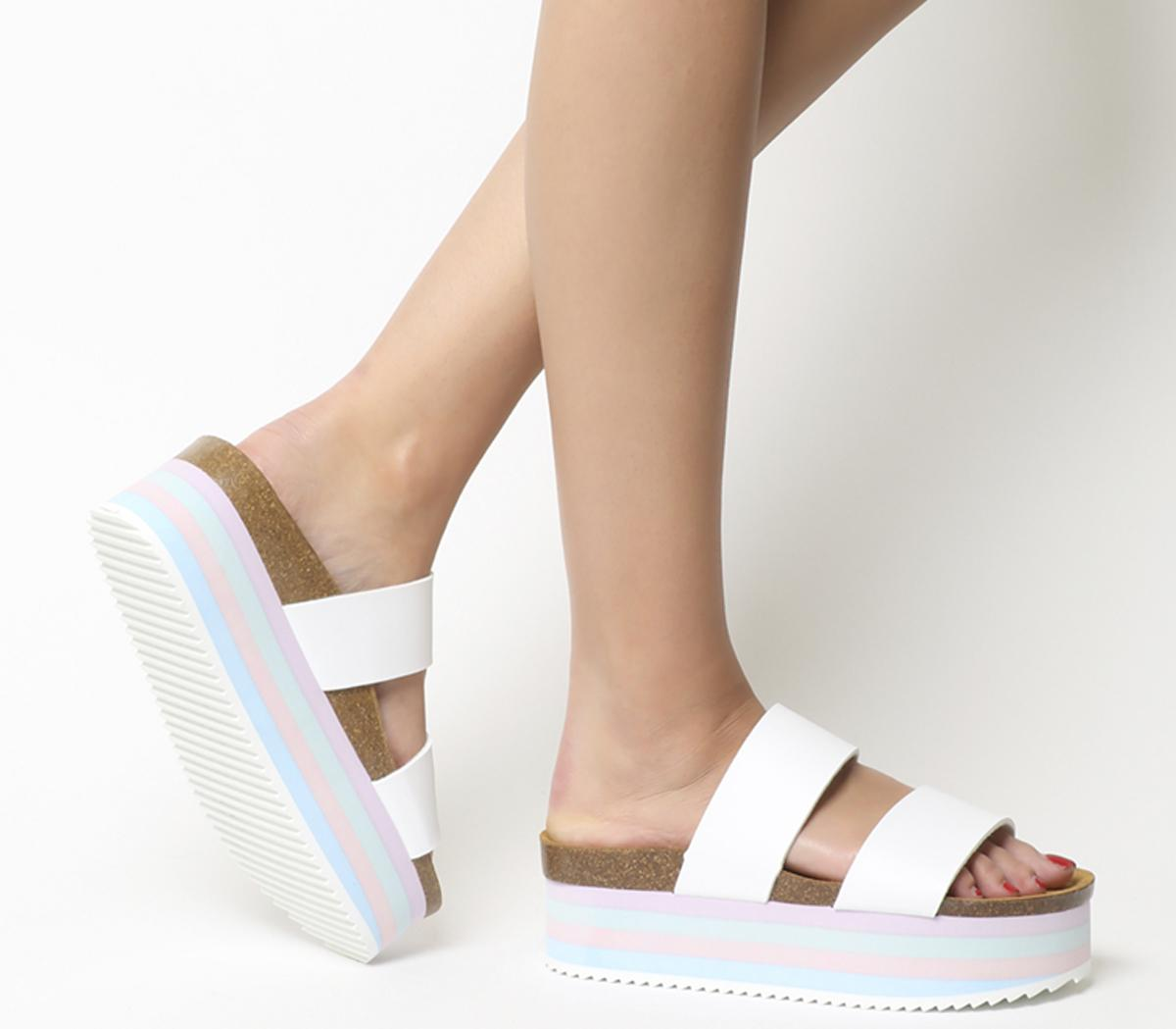 Mambo Striped Sole Two Strap Sandals