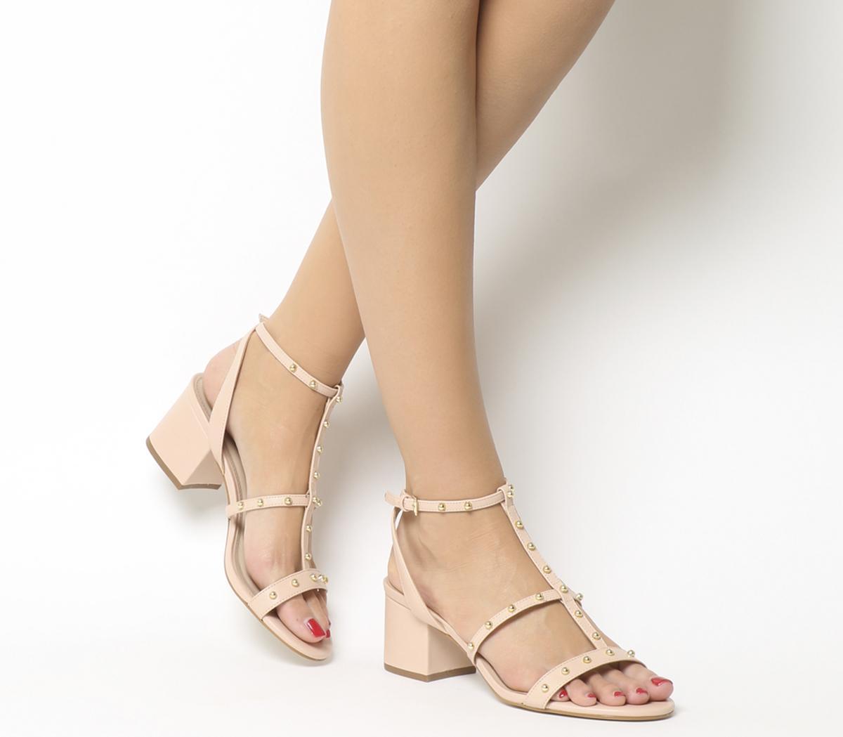 Midnight Studded Strappy Heels