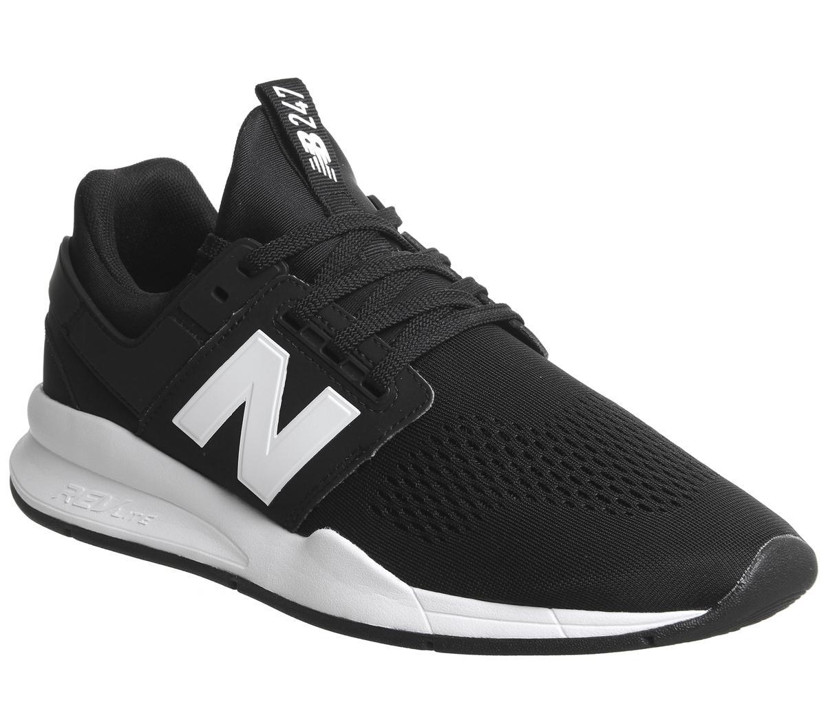 New Balance 247v2 Trainers Black White