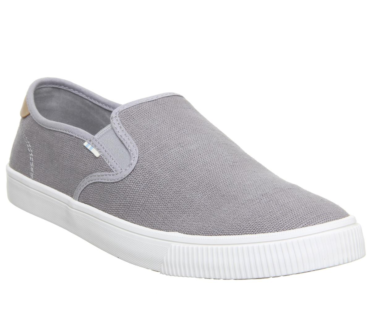 Toms Baja Slip Ons Drizzle Grey