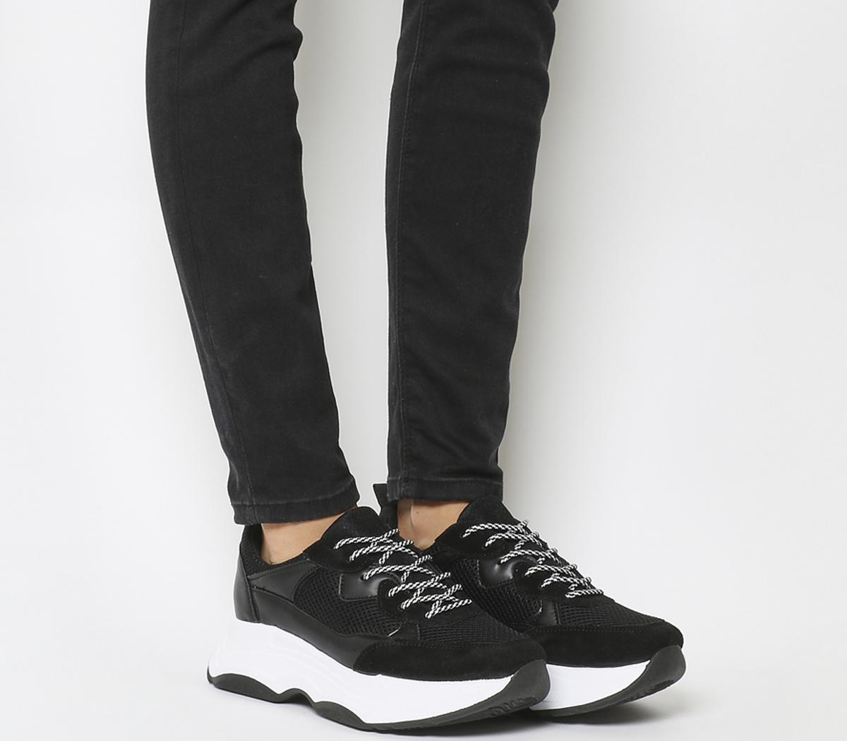 Office Fizzled Chunky Lace Up Trainer