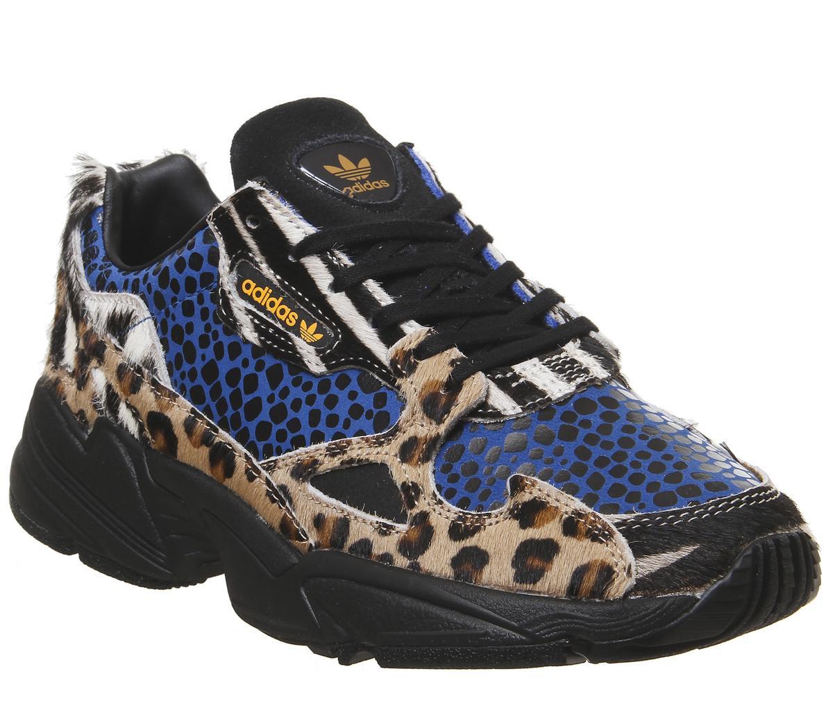 adidas Falcon Trainers Leopard Black