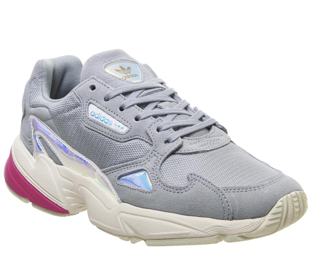 adidas Falcon Trainers Light Grey Real