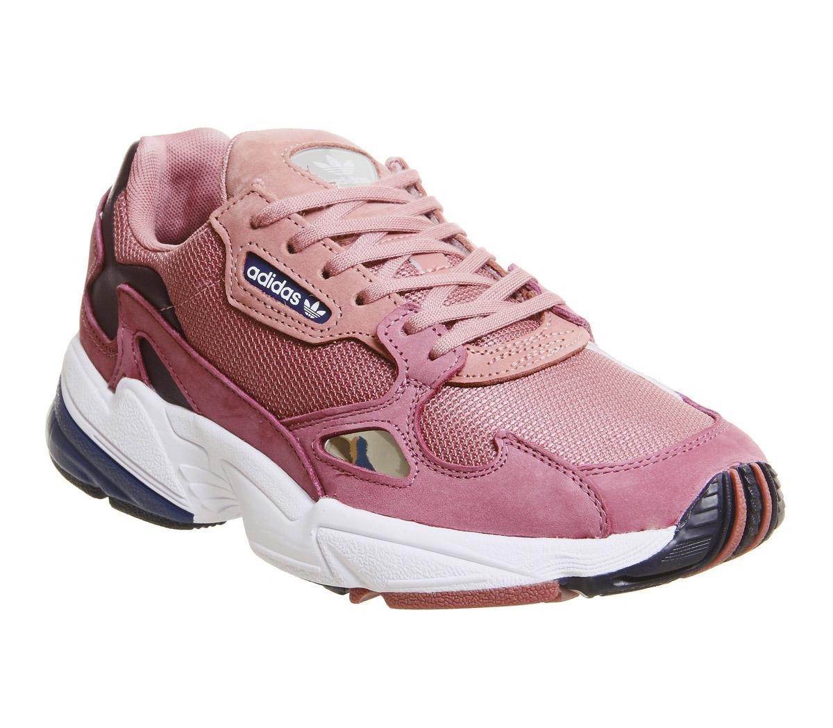 adidas Falcon Trainers Pink Dark Blue