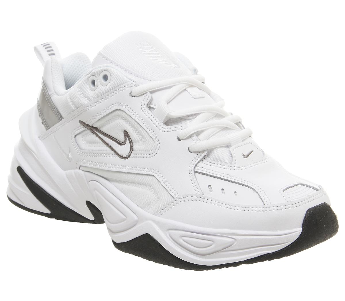 Nike M2k Tekno Trainers White Cool Grey Black Hers Trainers