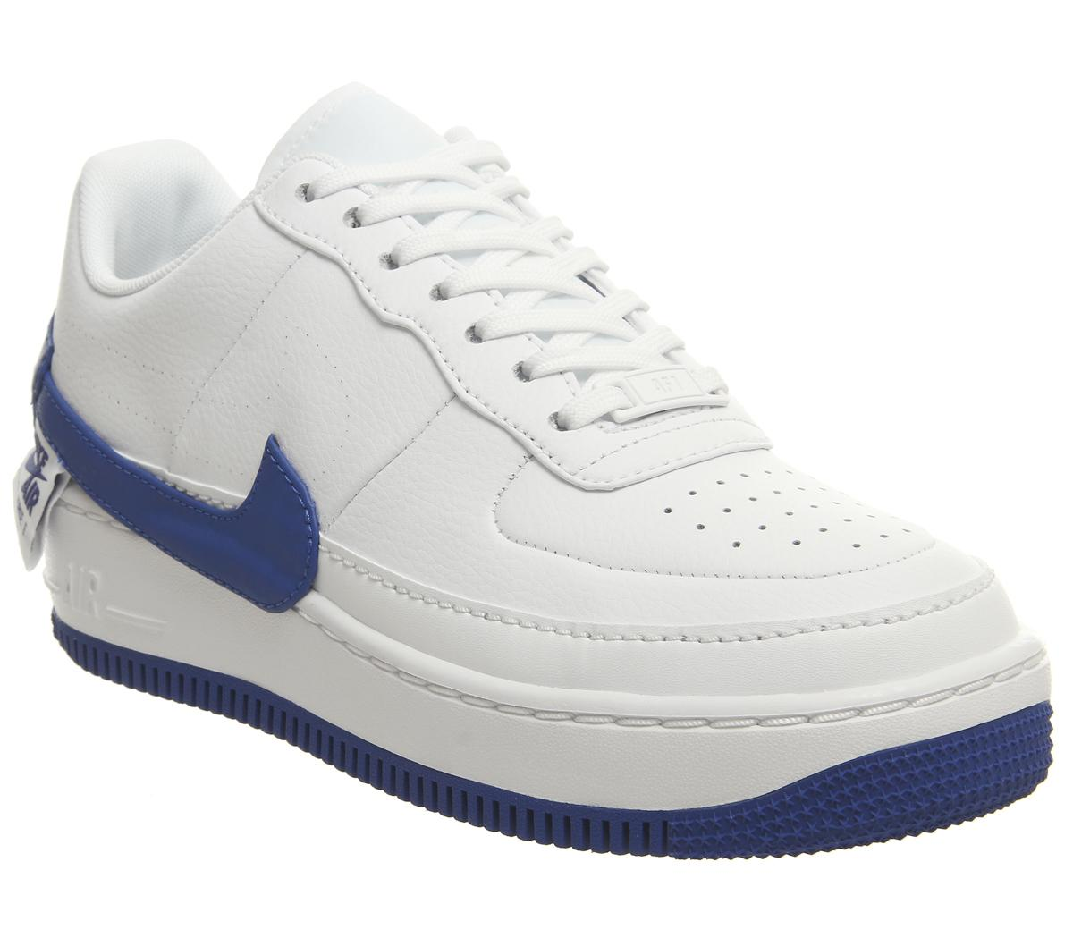 Trascendencia ambición italiano  Nike Air Force 1 Jester Trainers White Blue - Hers trainers