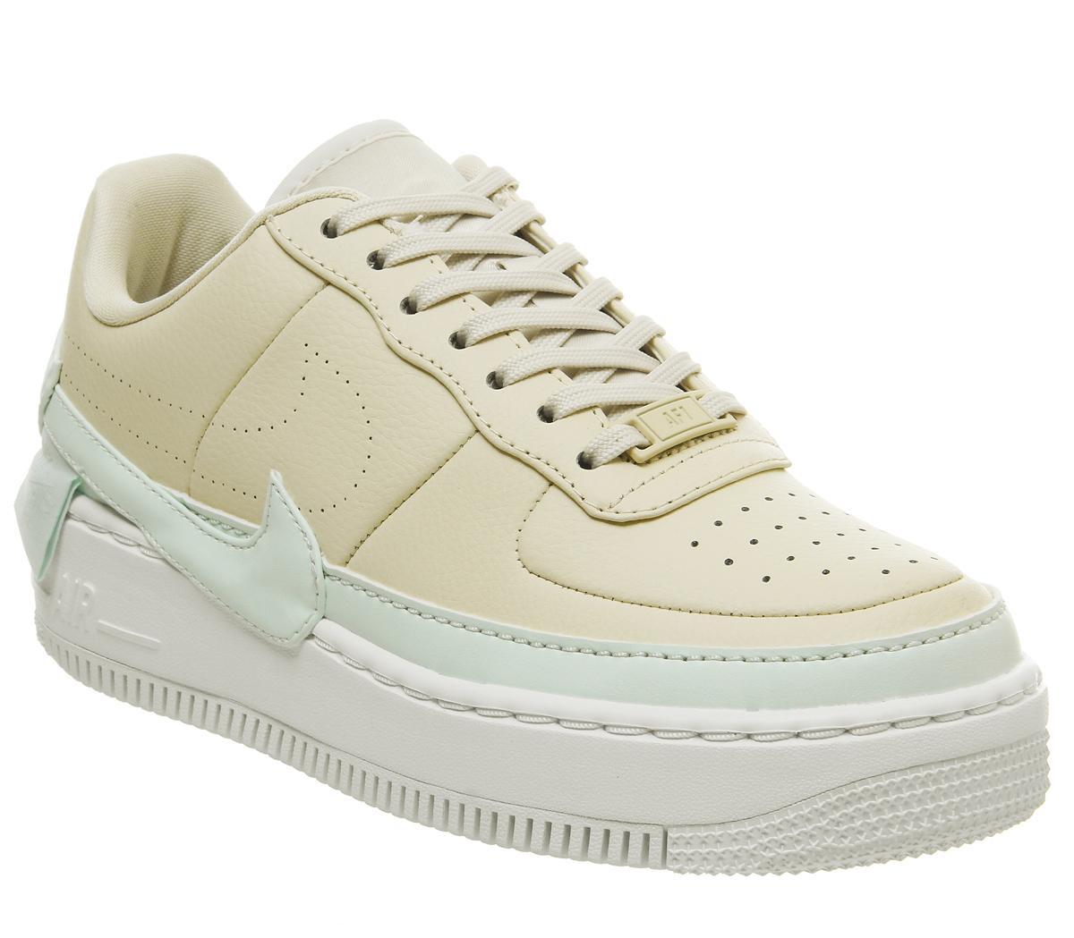 veterano Gracias limpiar  Nike Air Force 1 Jester Trainers Light Cream Ghost Aqua White - Hers  trainers