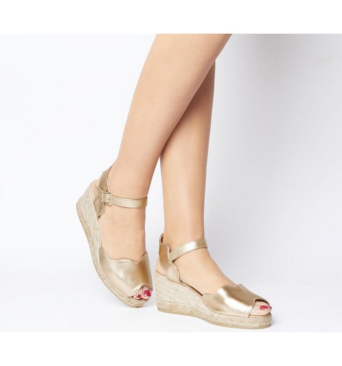 Gaimo for OFFICE Gaimo for OFFICE Round Wedge Espadrille GOLD