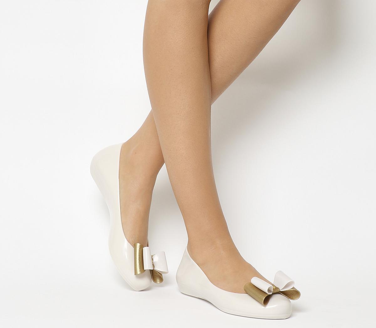 Zaxy Pop Bow 3 Pumps Ivory Glitter - Flats