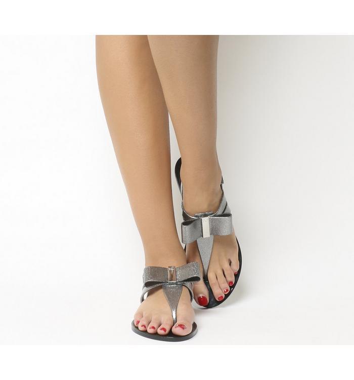 Zaxy Zaxy Glaze Sandal BLACK SILVER GLITTER