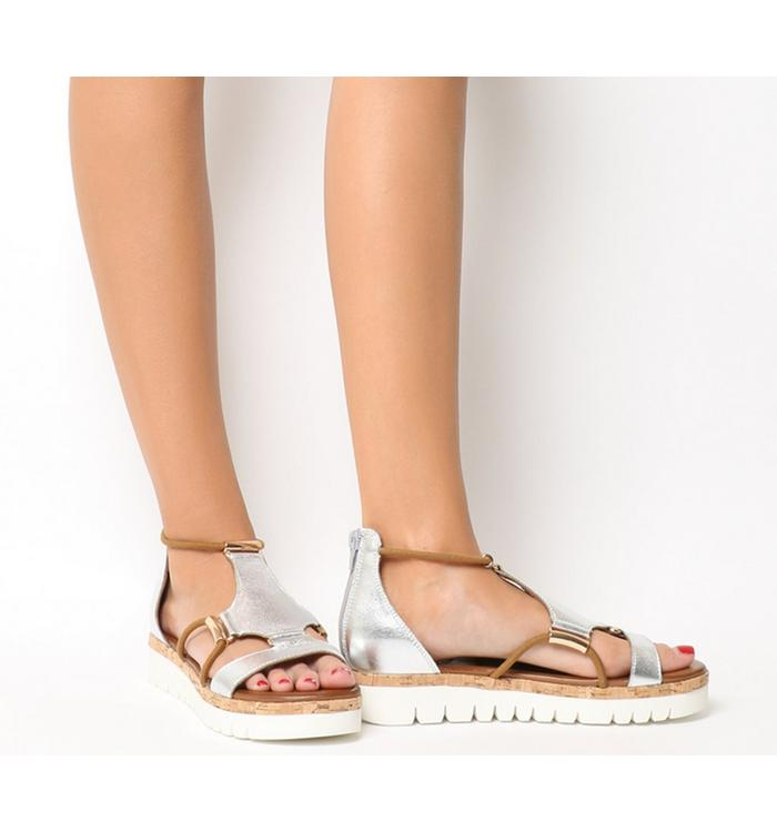 Inuovo Inuovo Flat Sandal SILVER
