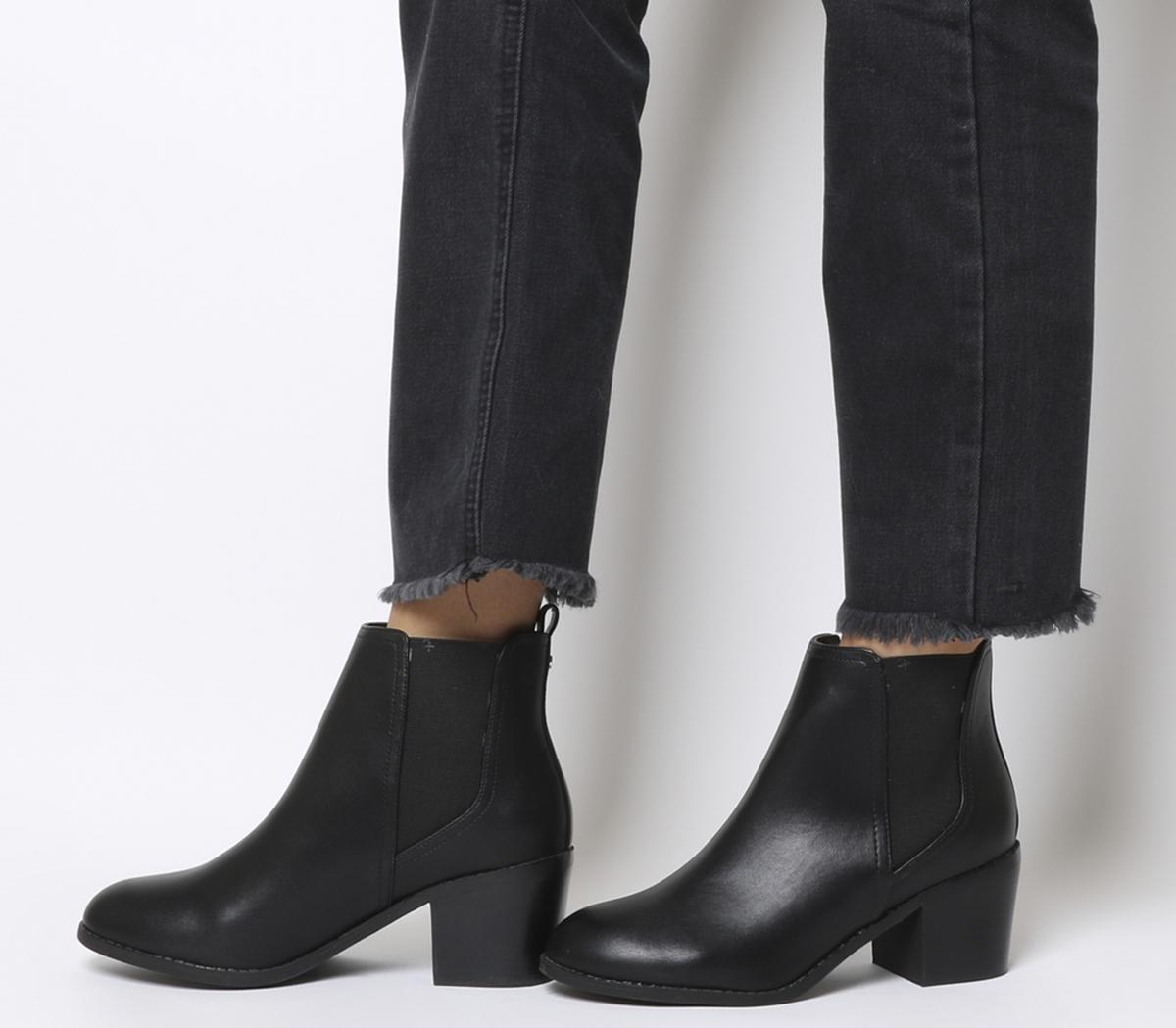 Office Analogue Chelsea Boots Black