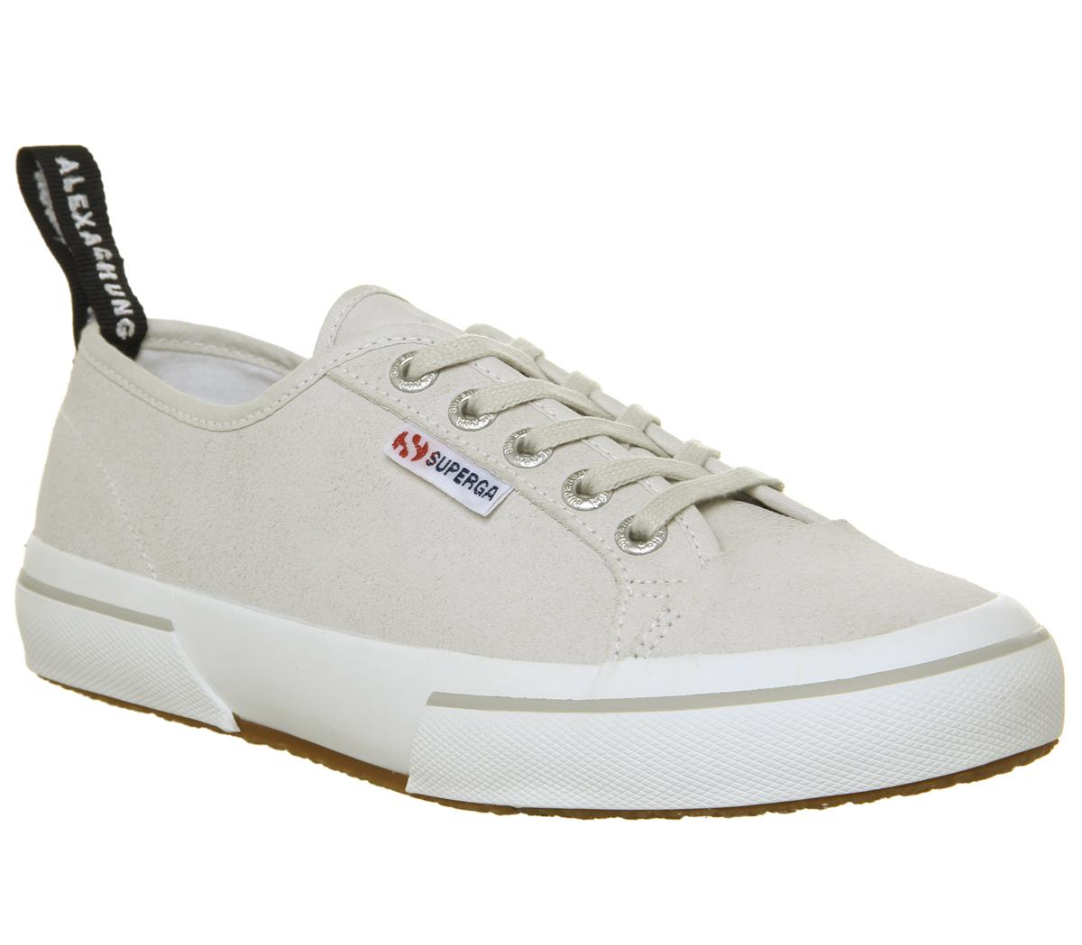 superga womens cream trainers