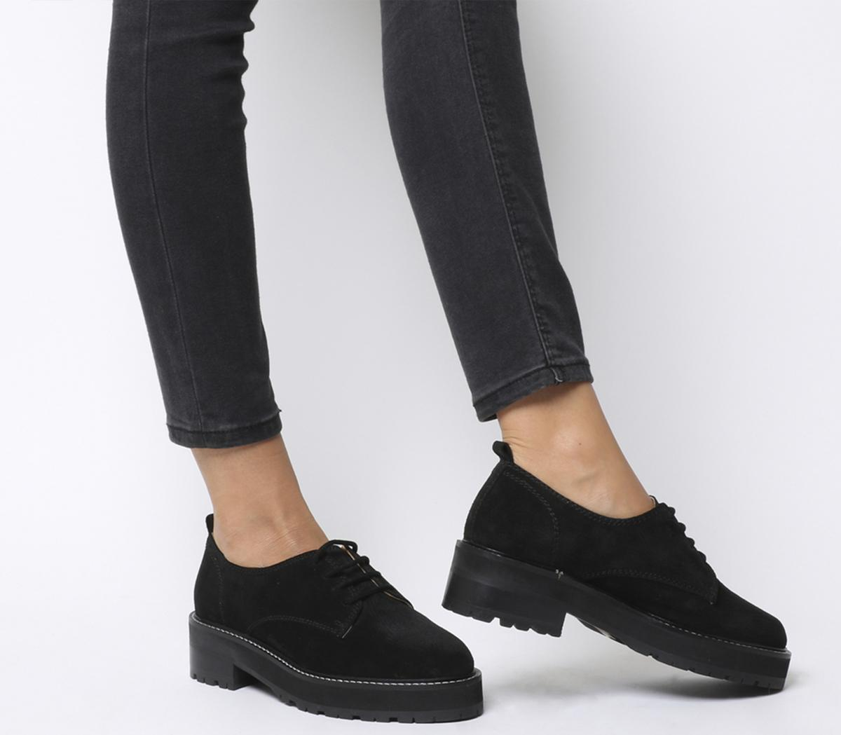 Office Float Contrast Lace Up Flats