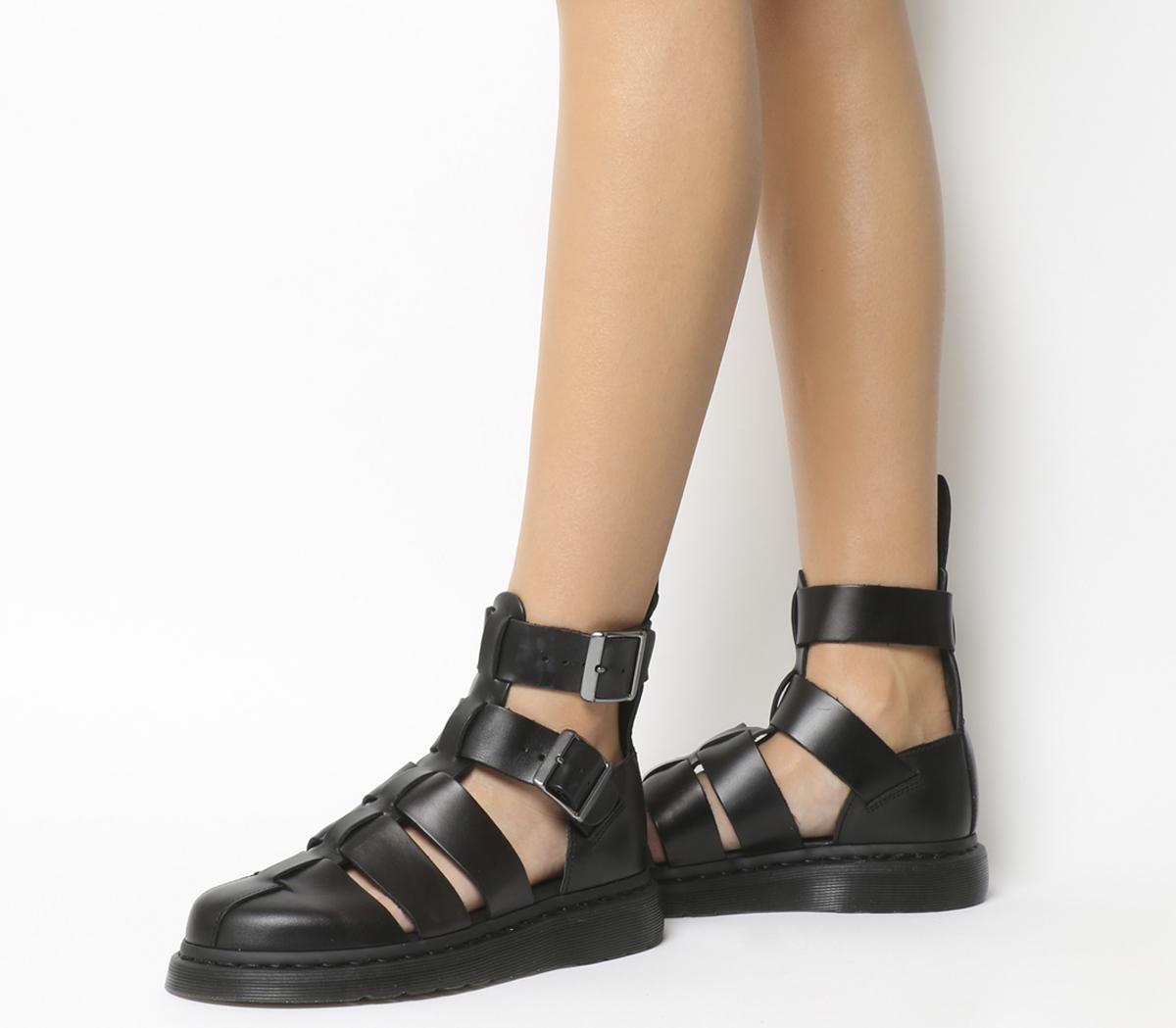 finaste urvalet grossist online bästa stället Dr. Martens Geraldo Sandal Black Brando Leather - Sandals