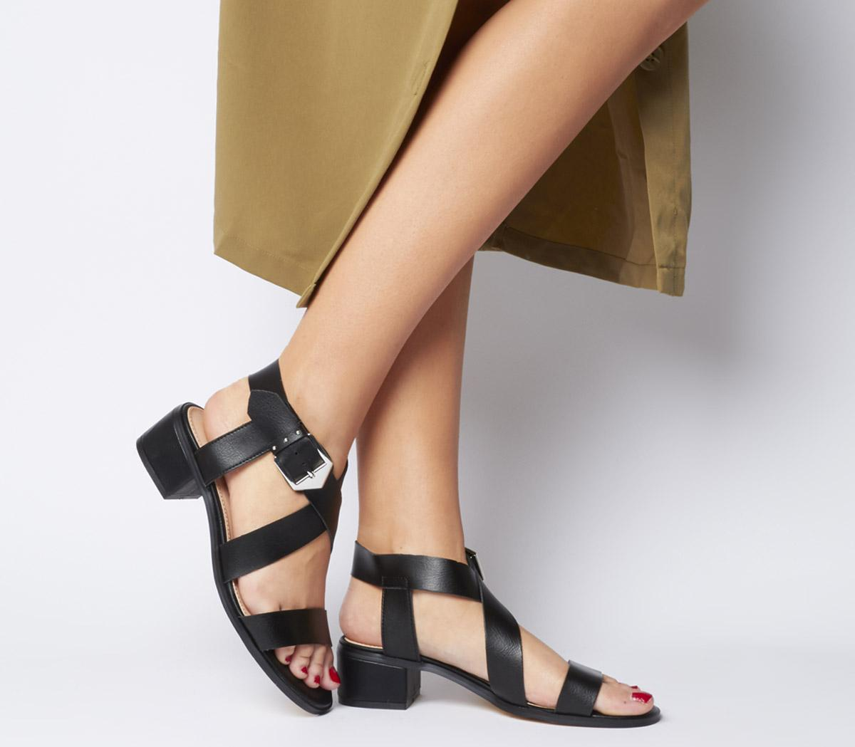 Marble Strappy Sandals