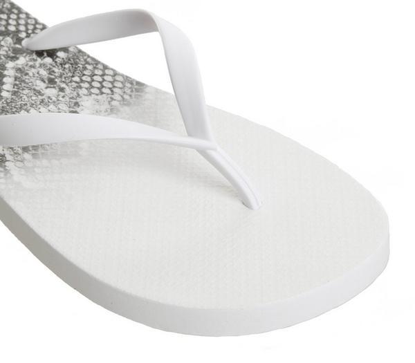 Office Seaside Ombre Toe Post Sandals White Snake - Sandals P5IVGQl