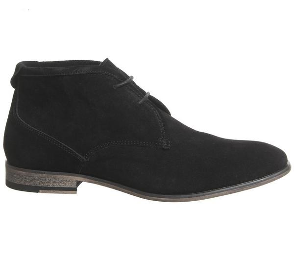 Office Impact Chukka Boots Black Suede - Boots RggwAAf