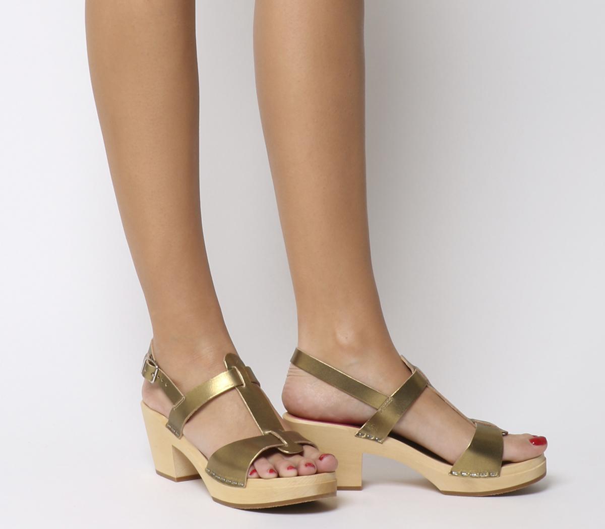 Greek Mid Heel Sandals