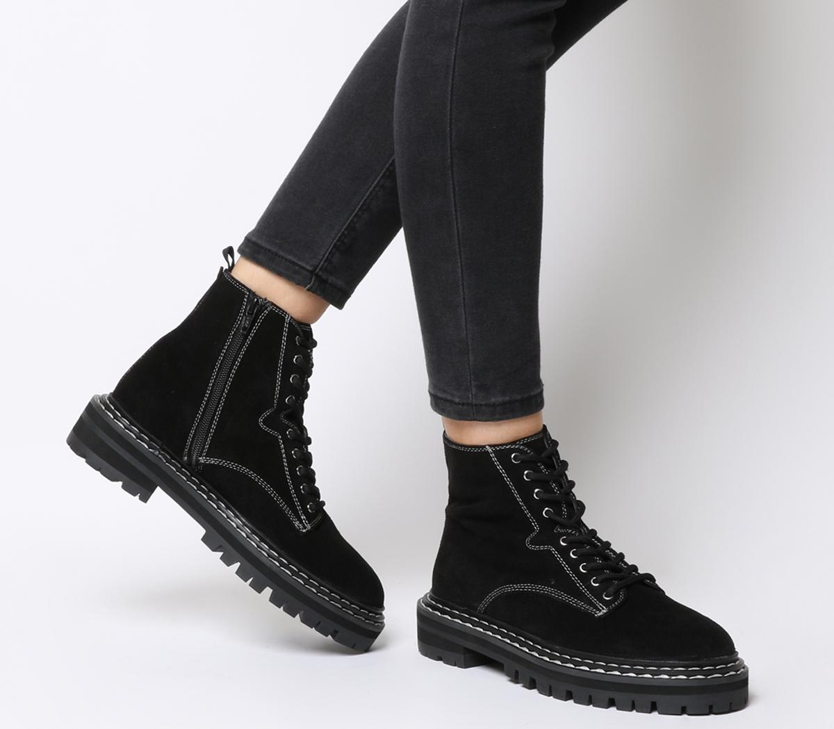Alphabet Double Rand Lace Up Boots