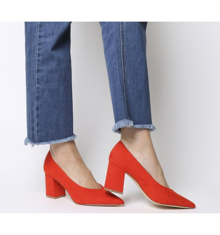 Office Office Mama Point Court With Chunky Heel RED