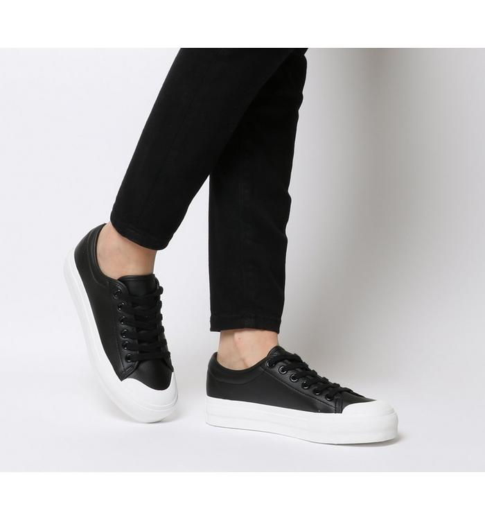 Office Office Fro Yo Chunky Sole Lace Up BLACK