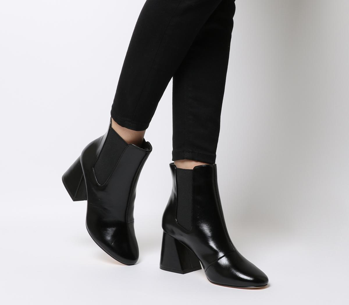 Office Angular Block Heel Chelsea Boots