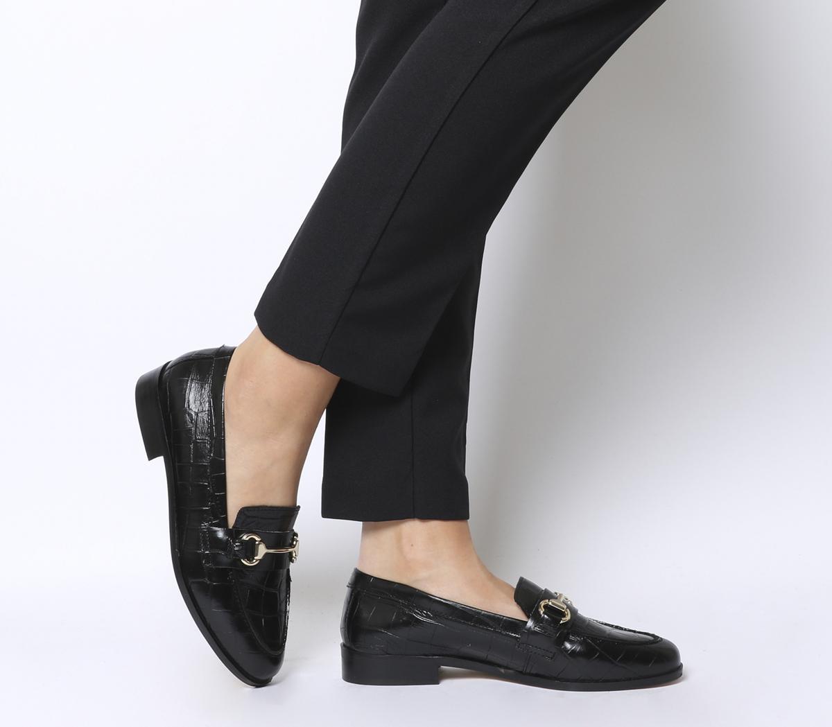 Office Fluster Loafers Black Croc