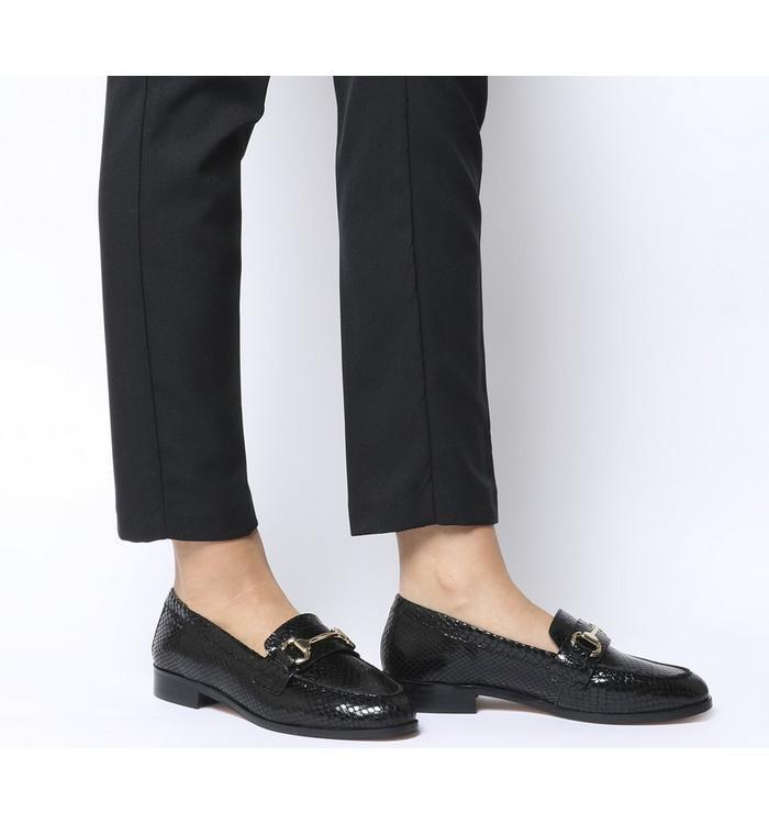 Office Office Fluster Loafer BLACK SNAKE LEATHER