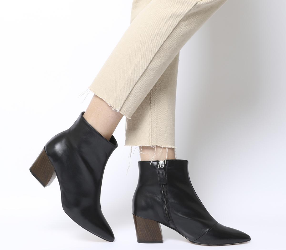 Office Aubergine Curved Heel Ankle