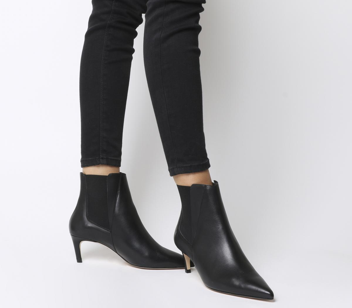 Office Attire Kitten Heel Chelsea Boots