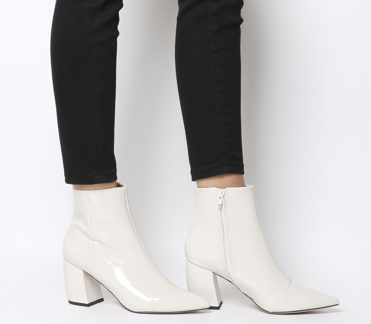 Office Aloud Point Block Heel Boots