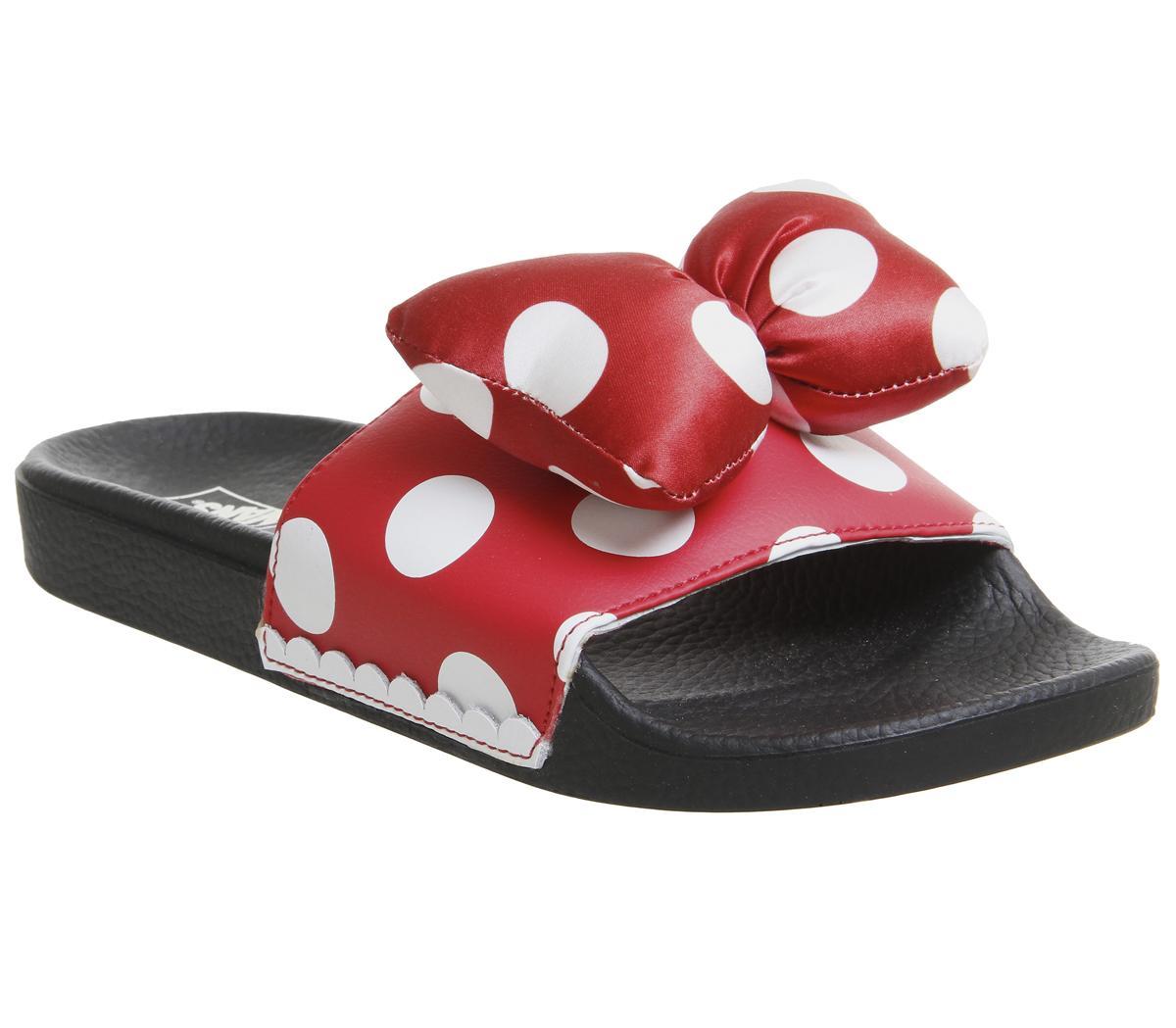 Vans Wm Slide On Sliders Minnies Bow