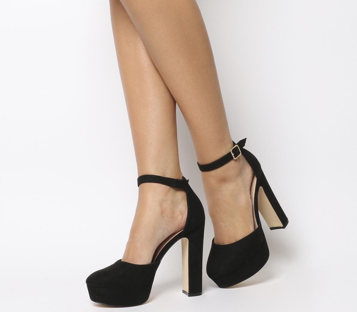 Jillian Black Cut Out Peep Toe Heels - $72 | Tobi US