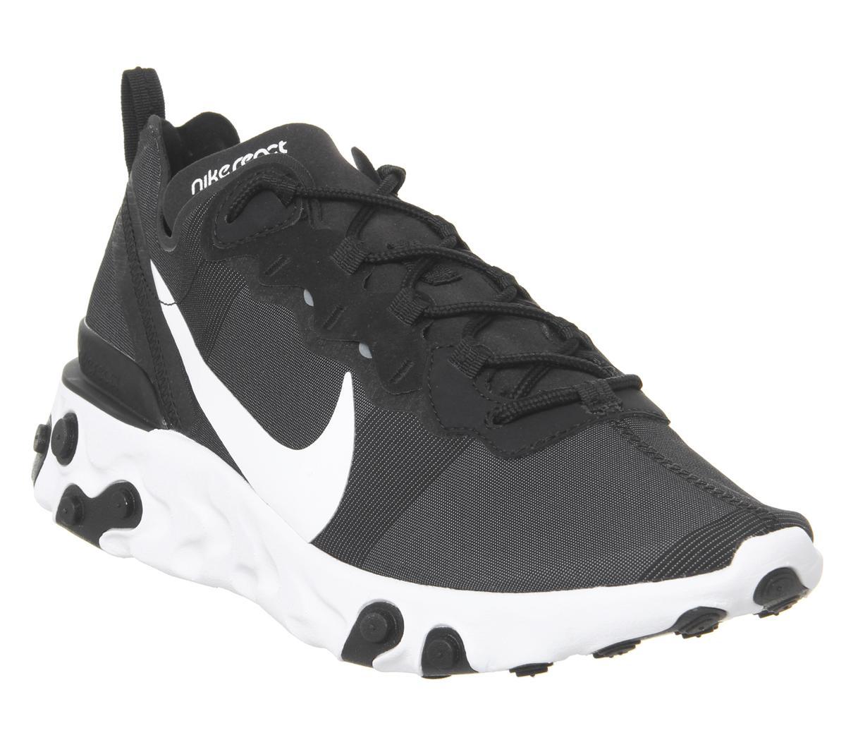 Nike React Element 55 Trainers Black