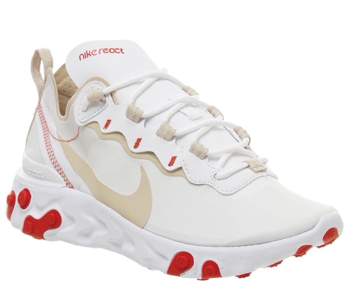 Nike React Element 55 Trainers White