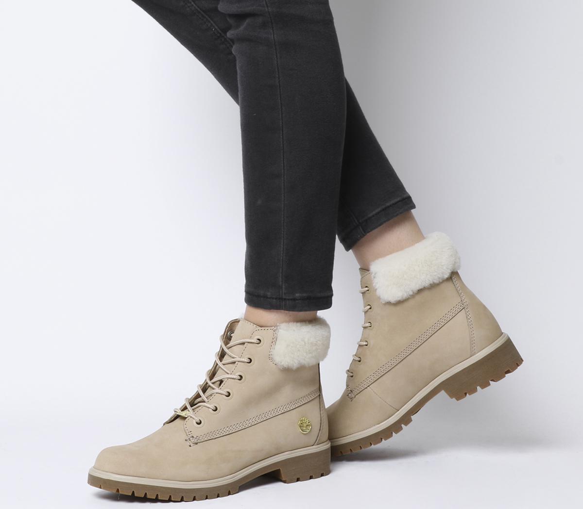 Slim Premium 6 Inch Fur Cuff Boots