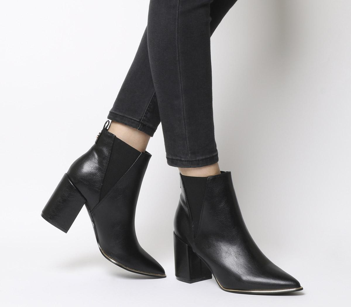 Amazing Block Heel Point Ankle Boots
