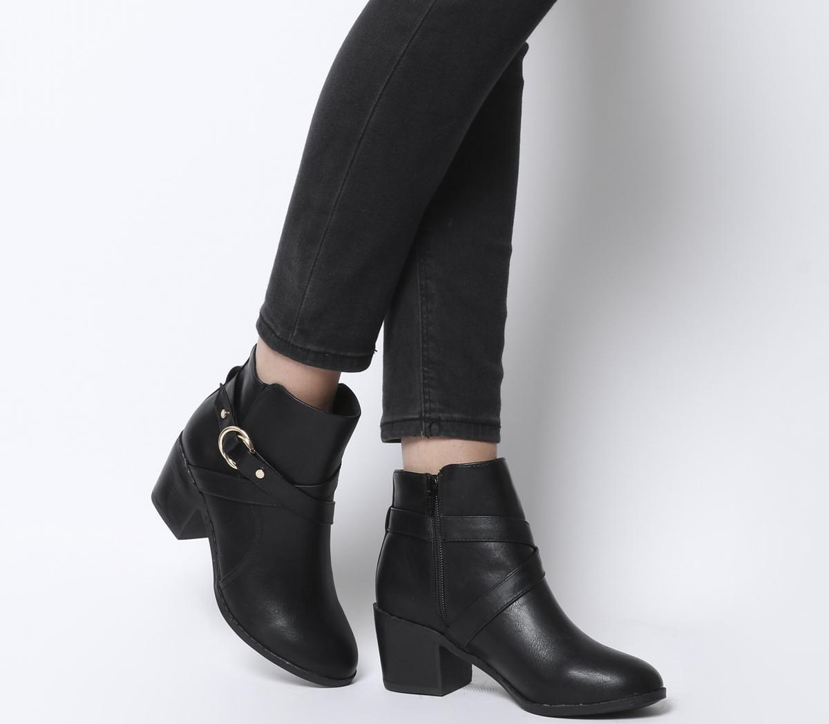Office Angelina Block Heel Strap Ankle
