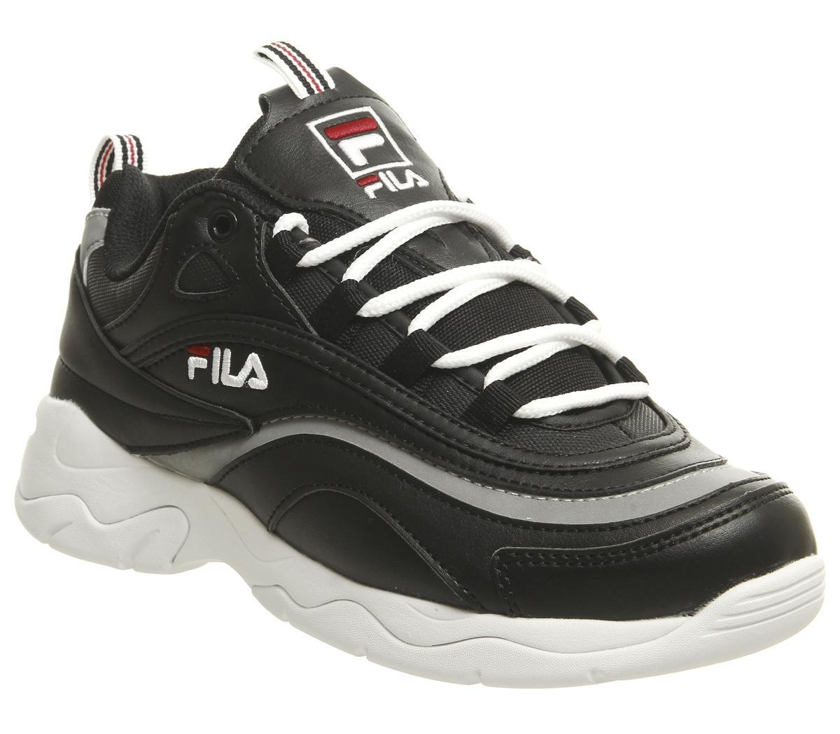 Fila Fila Ray Trainers Black Fila Red