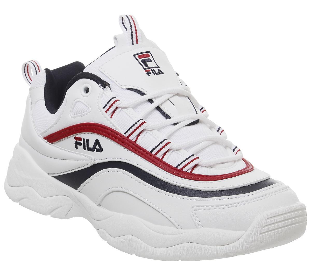 Fila Fila Ray Trainers White Fila Navy