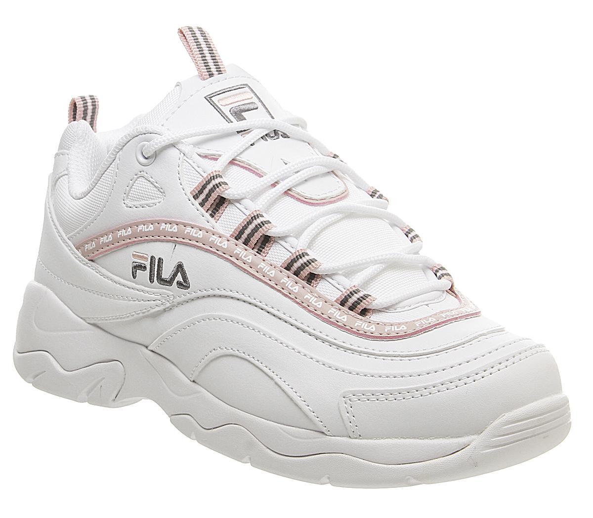 Fila Fila Ray Trainers White Chalk Pink