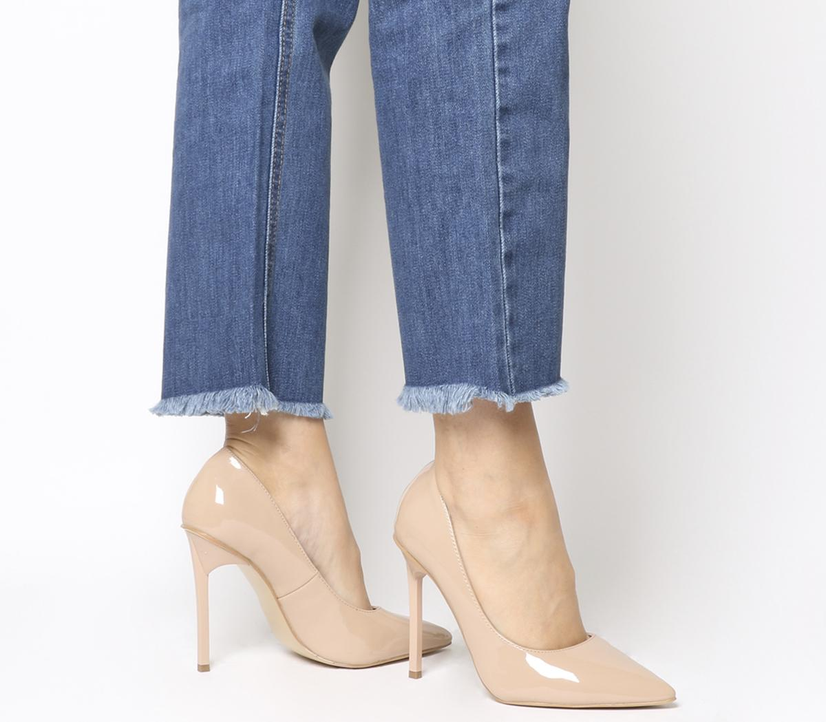 Office Hayden Court Shoes Nude Patent