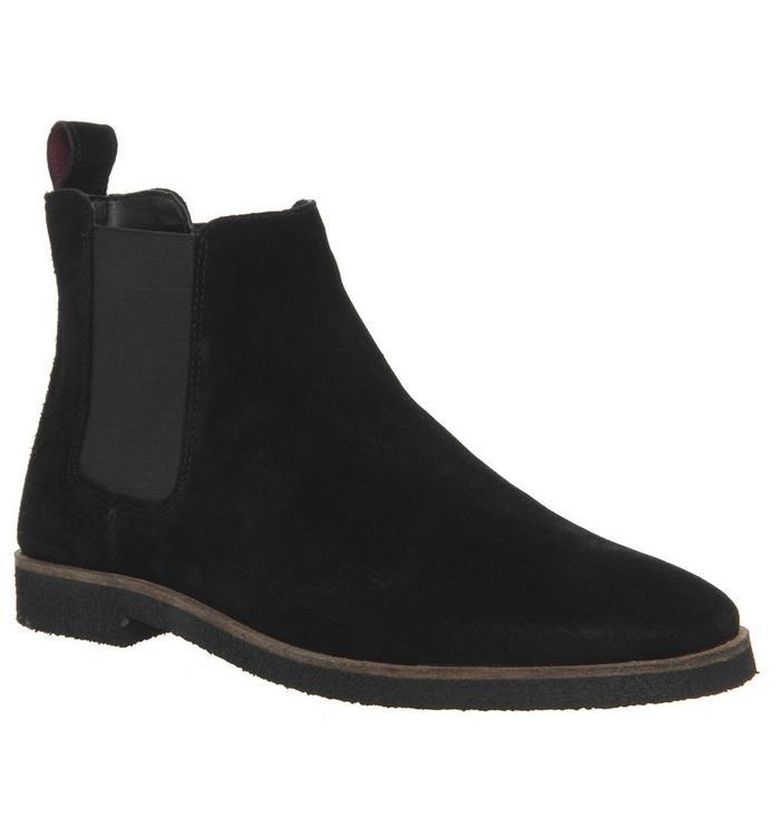 Walk London Walk London Hornchurch Chelsea Boot BLACK SUEDE