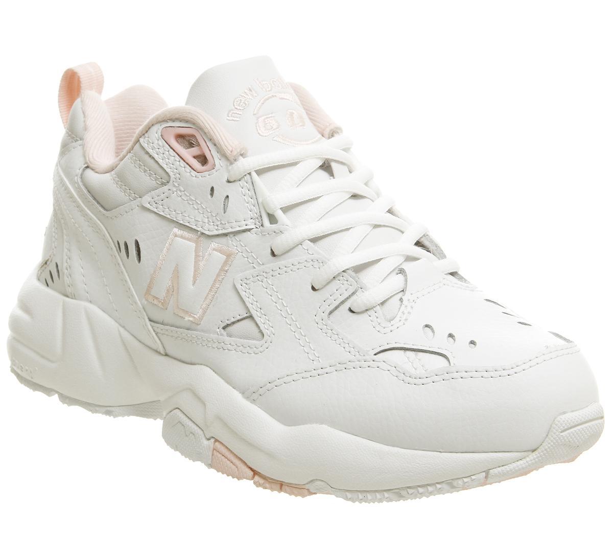 New Balance 608 Trainers Cream Pink