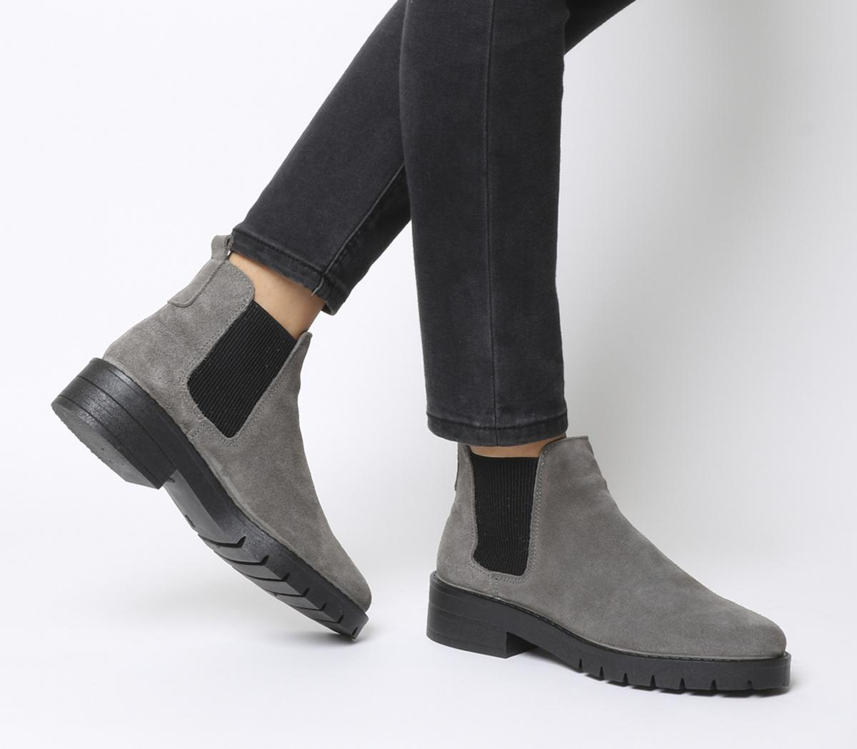 Office Aimee Cleated Chelsea Boots Grey