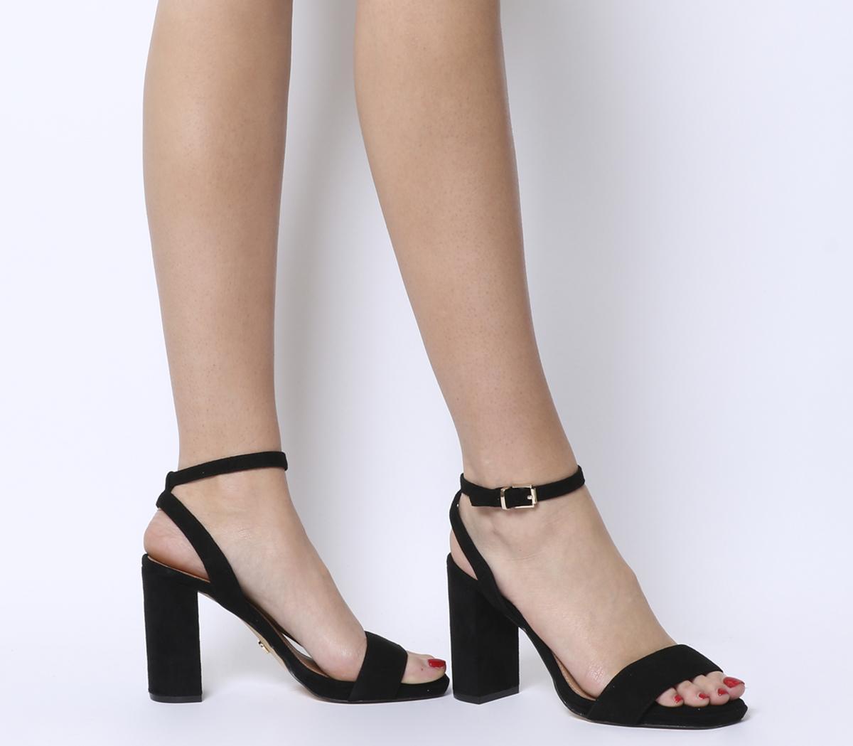 black two part platform heels