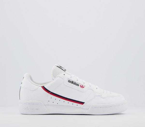 adidas Continental 80s Junior Trainers White Scarlet Collegiate Navy - Hers trainers Le4TbgL