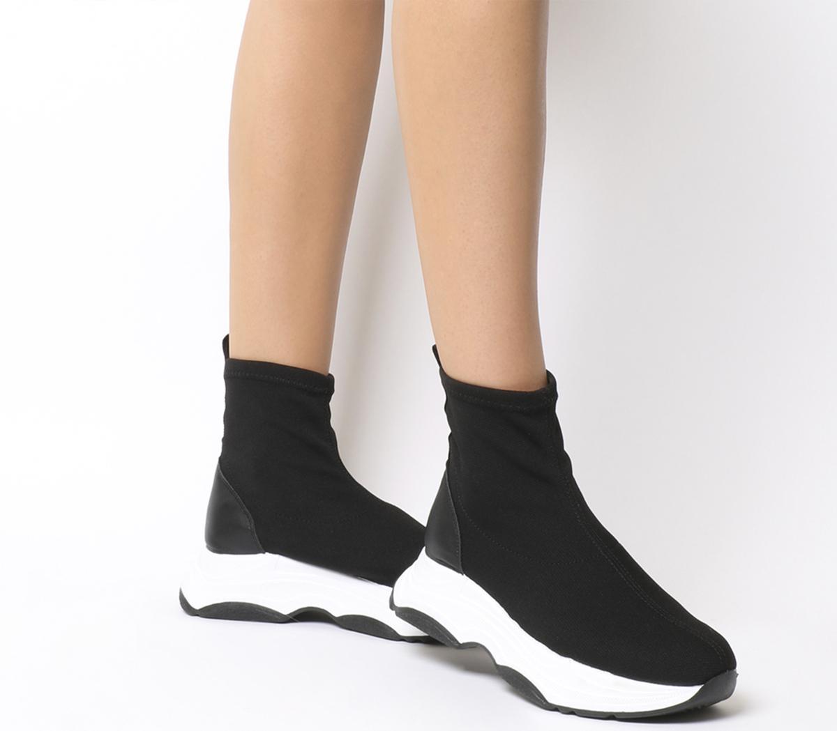 Office Fighter Sock Trainer Black Knit